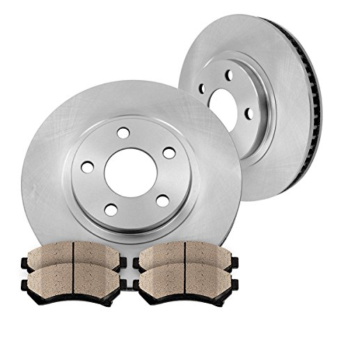 FRONT 276 mm Premium OE 5 Lug [2] Brake Disc Rotors + [4] Ceramic Brake Pads - 276 Mm Front Disc