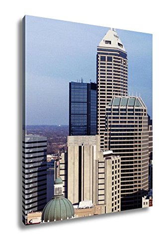 amazon com ashley canvas indiana skyline of the city with state