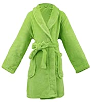 AbbyLexi Kid's Soft Plush Long-Sleeved Fleece Bathrobe w/Pockets