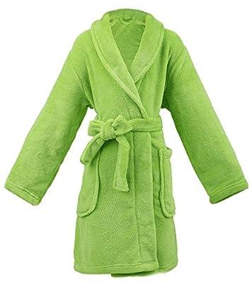 AbbyLexi Kid's Soft Plush Long-Sleeved Fleece Bathrobe w/Pockets