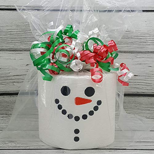 (Snowman Christmas Embroidered Toilet Paper, Funny Joke Prank Gag)