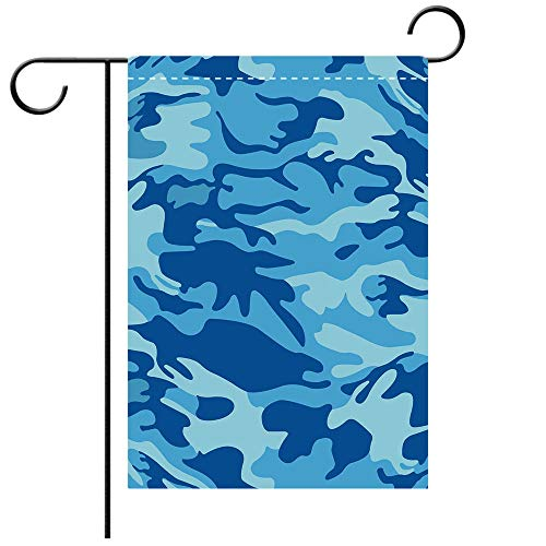 (BEICICI Custom Personalized Garden Flag Outdoor Flag Camouflage Abstract Camo Navy Military Costume Concealment from The Enemy Hiding Pale Blue Navy Blue Best for Party Yard and Home Outdoor)