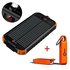 51KO5qzZwSL. SS300  - SOLAR SOURCE - Portable Power Bank Charger 14200mAh Dual USB Input, LCD Display - Plus Bonus Waterproof Battery Backup for Cell Phone, iphone, Samsung Galaxy, Android, Travel Emergency Bundle Kit Gift