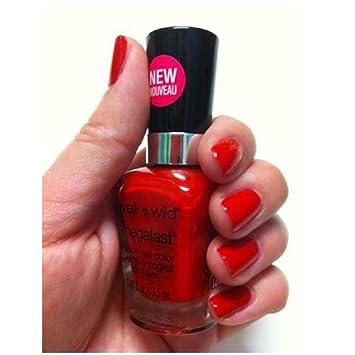 Amazon.com: Beautiful Mega Last Salon Red Color Nail Polish: Health ...