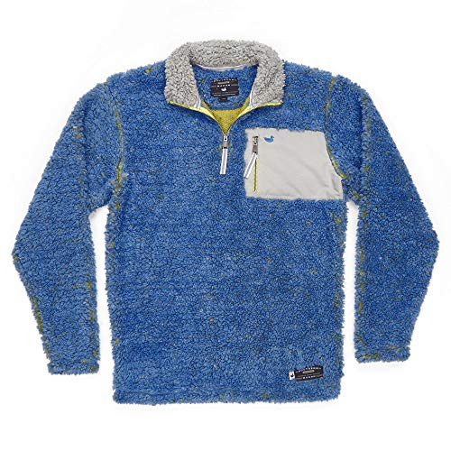- Southern Marsh Piedmont Range Sherpa Pullover French Blue & Mustard XX-Large