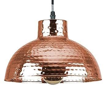MiniSun – Lámpara de techo 'Vasara' de estilo vintage - de cobre forjado y con función táctil