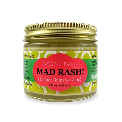 BALM! Baby MAD Rash Natural Diaper Rash Balm & ALL Purpose Skin Aid with ZINC (2 Ounce Glass - Glasses Prescribed