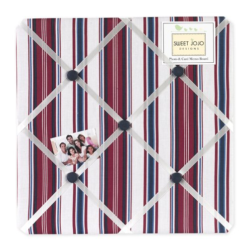 Sweet Jojo Designs Nautical Nights Fabric Memory/Memo Photo Bulletin Board by Sweet Jojo Designs