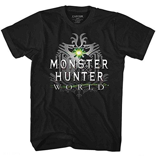 American Classics Monster Hunter Men's MHW Logo T-Shirt Large Black