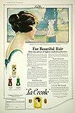 1920 Ad Vintage La Creole Hair Dressing Care Tonic