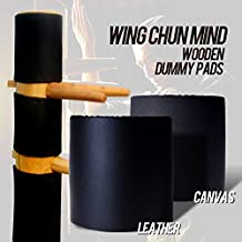 Wing Chun Mind Wooden Dummy Hand Protective Leather Pads 3 Pieces a set