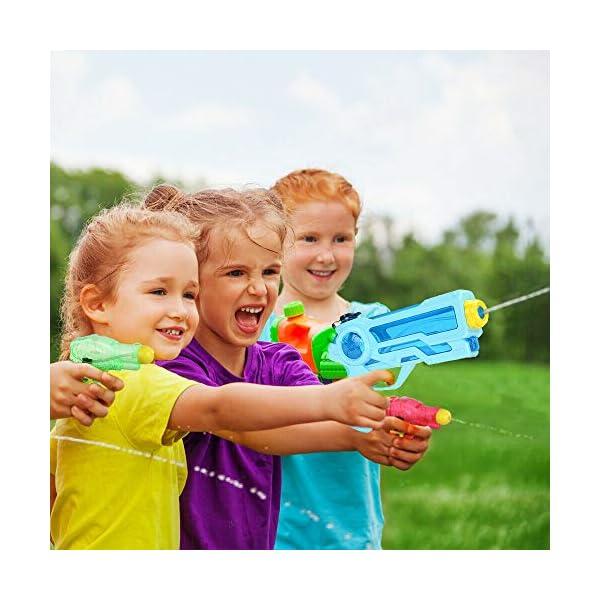 Pistole ad Acqua Giocattolo Pistola per Bambini e Adulti Estivi All'aperto per Divertimento, 350ML Summer Giocattoli… 4 spesavip