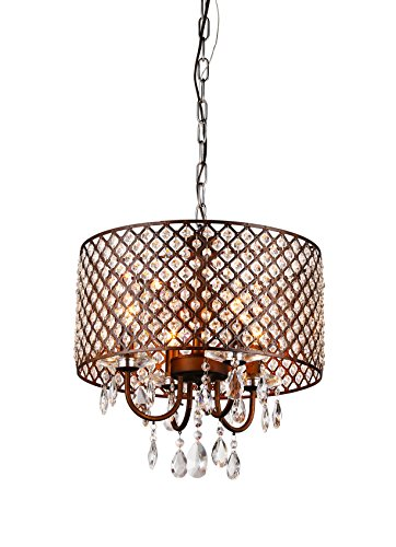 Whse of Tiffany RL8064 Alexia Antique Bronze Chandelier