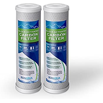Block Activated Carbon Coconut Shell Water Filter Cartridge 5 Micron for RO & Standard 10