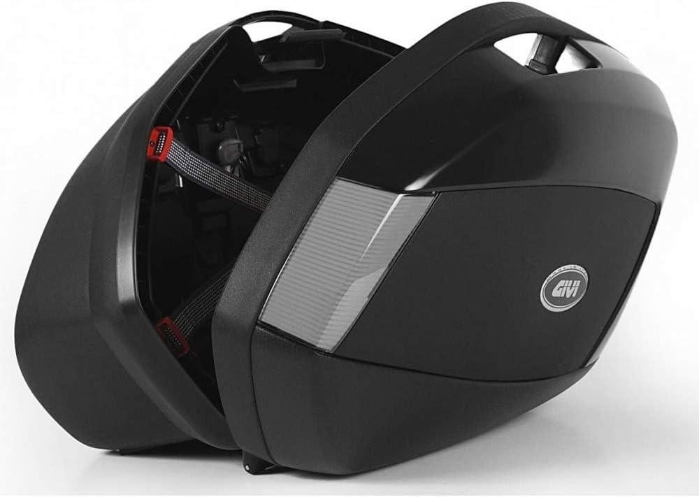 Givi V35NT Monokey Side Tech Ba/úl Lateral con Cover Negro Carga M/áxima 10 Kg