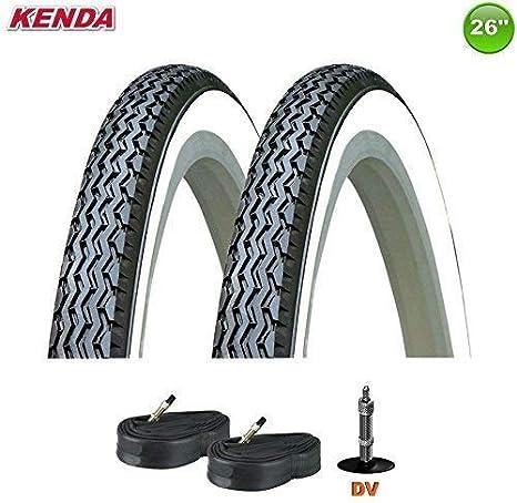 01022632K Kenda K-133 Neumático de la bicicleta negro/blanco con Mangueras 26 x 1 3/8 37-590: Amazon.es: Deportes y aire libre