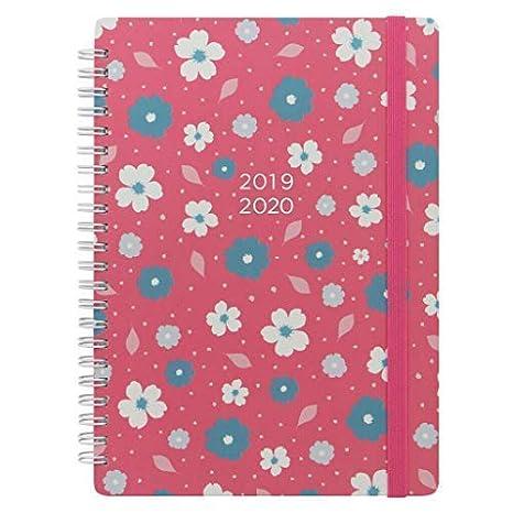 Calendario Scolastico Marche 2020 17.Letts Diario Scolastico 2019 2020 Formato A5 Con Visualizzazione Settimanale Rilegatura A Spirale Pink Floral
