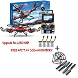 Lookatool® Upgrade JJRC H8D 4CH 5.8G FPV RC Quadcopter Drone HD Camera + Monitor+ 4 Battery+ Free 4pcs Blades Protection + Free Propeller Cover Set