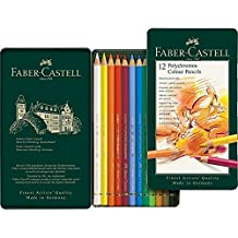 Faber-Castell Polychromos Artist Colored Pencil Set 12-Pencil Tin Set