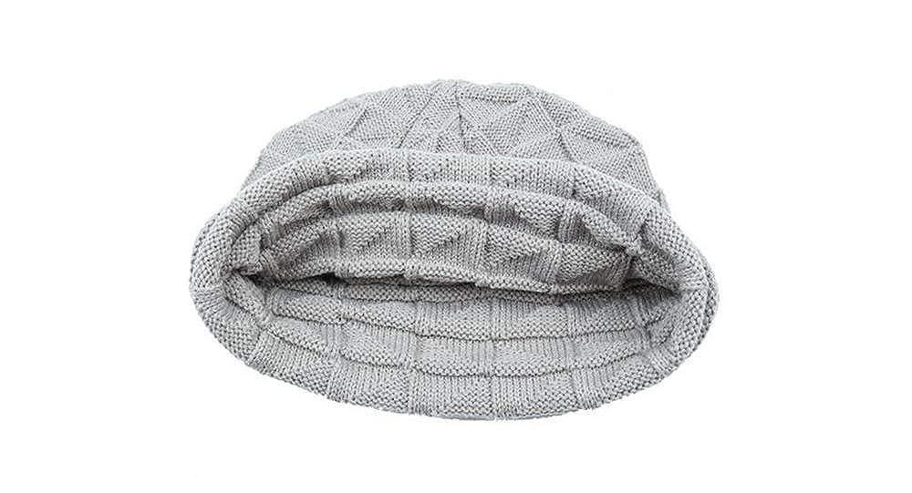 Smart.A Womens Winter Hand Knit Faux Fur Pompoms Beanie Hat