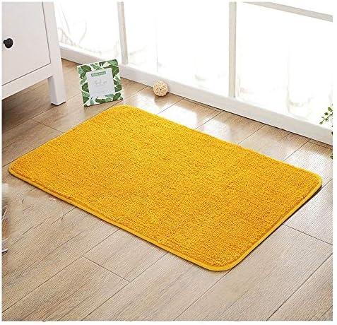 GHHQQZ バスルームラグ シンプルでモダン 丈夫 吸水 超極細繊維 フットパッド キッチン バスルームのカーペット、 6色、 厚さ1.5cm、 10サイズ (Color : Yellow, Size : 90x120cm)