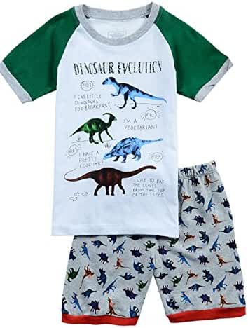 Babypajama Dinosaur Little Boys' Short Sleepwear Pajamas T-Shirt & Pants 100% Cotton