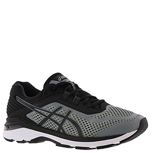ASICS GT-2000 6 Men's Running Shoe, Stone Grey/Black/White, 12 W US