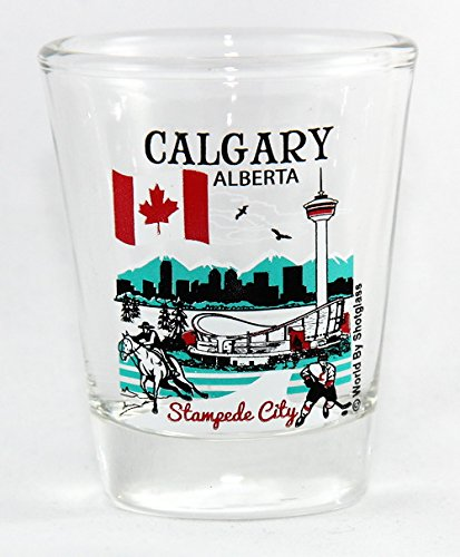 Calgary Alberta Canada Great Canadian Cities Collection Shot Glass