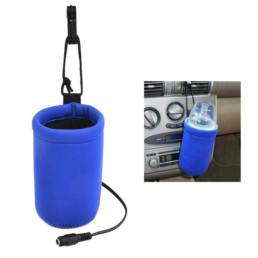 Augproveshak Elastic Car Bottle Warmer, DC 12V Universal Water Bottle/Beverage / Cup Constant Temperature Heating Set