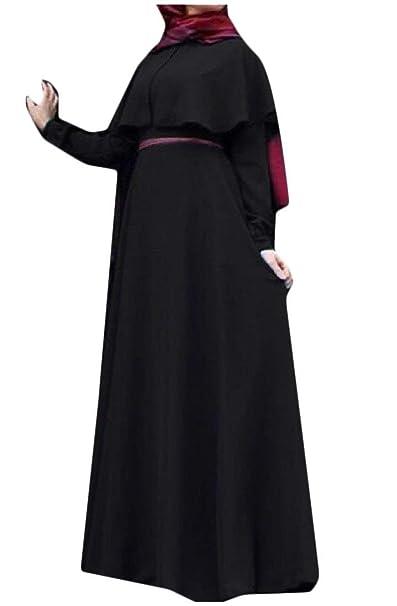 Babaseal Vestido de Fiesta de Manga Larga de Las Mujeres de Manga Larga Más el Tamaño
