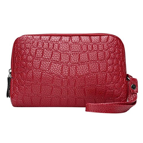 Phone Everpert Clutch Red Handbags Women Wine Wristlets Leather Wallet Holder PU Zipper Coin qntARgt