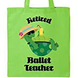 Inktastic - Retired Ballet Teacher Gift (Funny) Tote Bag Lime Green 1144d