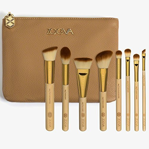 Brushes Makeup Cosmetics Tool BAMBOO Luxury Bag Kit Set Professional Best Seller Organizer Bag Travel Small Large for Girl Real Techniques Eye Full Bag Complete Eye ZOEVA Set 8 Face Brushes. by ZOEVA