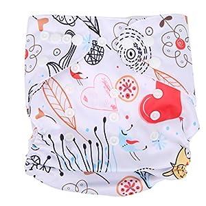 Baby Cloth Diaper Adjustable Reusable Washable Infant Diaper Waterproof Newborn Wet Bag Pants for Baby Newborn Infant…