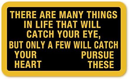MOTTO(座右の銘)ステッカー(目を奪われるものがたくさんあるだろう。しかし、心を奪われるものだけを追い求めなさい) Lサイズ