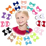 pigtail ties - 30 Pack: HBY Girls No Crease Ouchless Stretch Elastic Hair Bow Ties Ponytail Holders