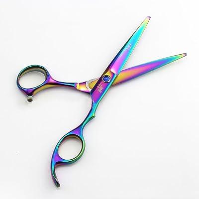 1PCS Professional Hair Scissors Coiffure Hair Cutting Scissor Hairdressing Scissor Kit Hair Thinning Scissor 17.5CM purple