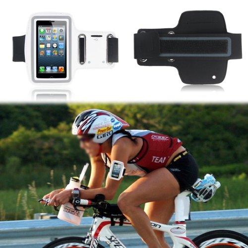 Super Best Slim Fit Bianca Esecuzione della copertura della cassa del bracciale per il iPhone 4S / 4