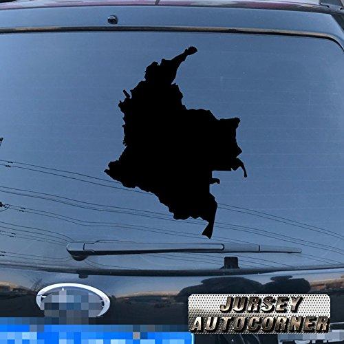3S MOTORLINE Map of Colombia Colombian Decal Sticker Car Vinyl pick size color die cut no bkgrd (black, 4'' (10.2cm))