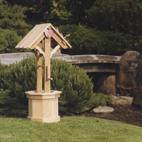 All Things Cedar 45 Wishing Well Planter with Gift Lid