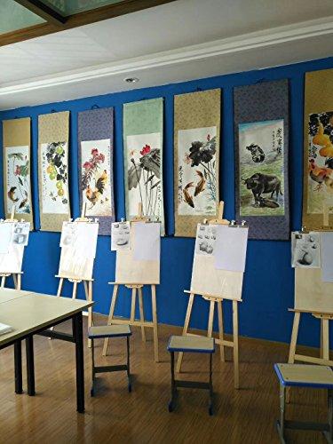 JZ014 Hmayart kakejiku Blank Mounting Hanging Wall Scroll Set for Kanji, Sumi and Chinese Calligraphy (6pcs/Set) (Scroll Size: 14.96'' x 41.34'' (38 x 105 cm)) by Hmayart (Image #7)