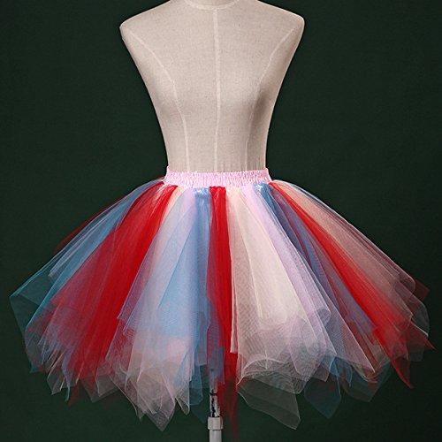 Jupon Tulle Jupes rouge Costume Girls Danse bleu Pom Jupe Courtes Rose Cuve Pom Crinolines Ballet de Bairicao Tutu Bulle ExBFwqOZ