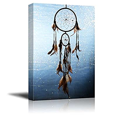 Canvas Prints Wall Art - A Beautiful Dream Catcher | Modern Wall Decor/Home Art Stretched Gallery Canvas Wrap Giclee Print & Ready to Hang - 36