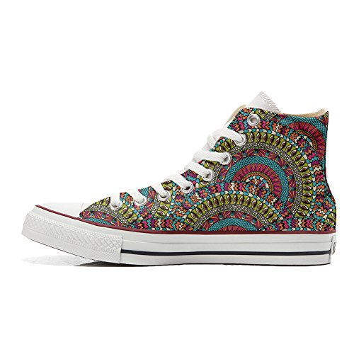 Converse All Star Hi chaussures coutume (produit artisanal) Mexican Texture
