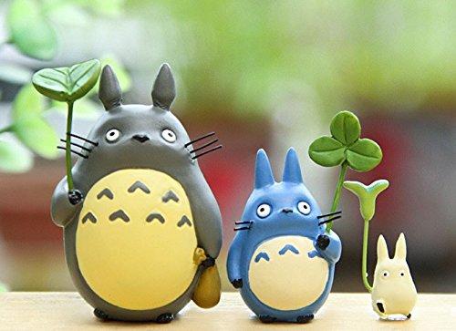 3PCS/LOTS Miyazaki Toy Totoro Leaf Anime Cartoon Mini Action Figure Model Kids Toys Christmas Gifts