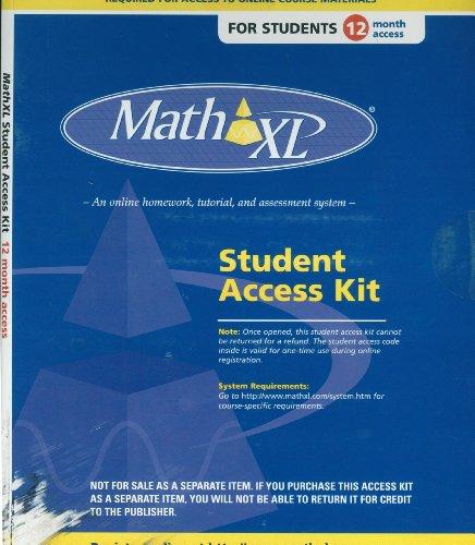 MathXL -- Valuepack Access Card