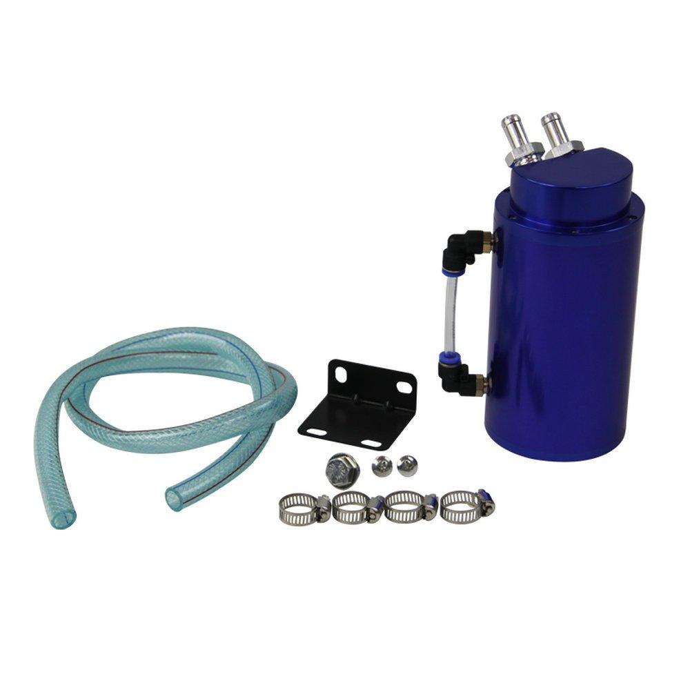 Jarra con recuperador de aceite universal de Alloyworks, aleación de aluminio con manguera redonda, color azul: Amazon.es: Coche y moto