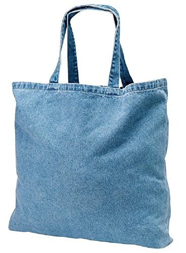 Heavy Cotton Washed Denim Tote Bag for Daily Use, Shopping, Travel (12)