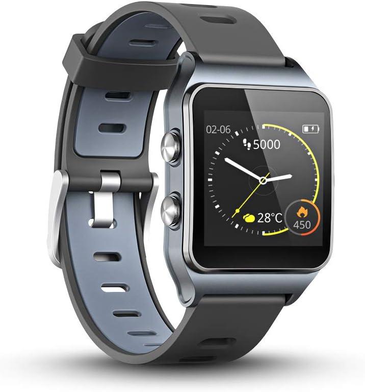LUKAWIT GPS Reloj Inteligente Fitness Tracker con Monitor de Frecuencia Cardíaca y Sueño, 17 Modos Deportivos, Podómetro Pulsera Hombre Mujer Niños (Pantalla Color, 5ATM Impermeable)
