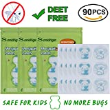 Mosquito Repellent Patches 90 Count Soniangia Repellent Stickers Lasting 24 Hours 1M Range For Kids Babies Dogs Home Natural Lemon Eucalyptus Essential Oil DEET Free Cartoon Pattern Cotton Material